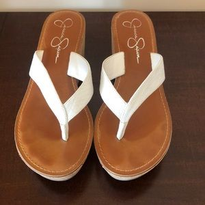 Jessica Simpson White Sandals